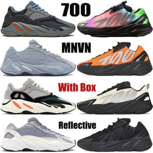 Kanye West MNVN OG dalga koşucu koşu ayakkabıları Tie-boya karbon hastane mavi Vanta grafiti Turuncu yansıtıcı erkek kadın spor ayakkabı v2 700 v1