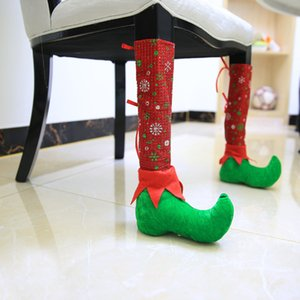 New atmosphere Christmas decorate adornment chair cover dining room decorate stool leg chair leg table corner cover T3I51190