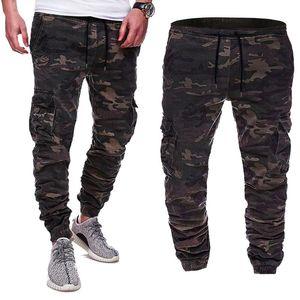 Мужские брюки модные спортивные штаны бегуны мужские большие размеры камуфляж напечатанный шнурок пояса повседневная леггинсы уличные кортютные брюки