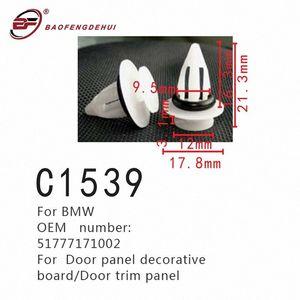 TlBP 번호 버클 51777171002 도어 트림 패널 자동차 패스너를 들어 문 패널 장식 보드 클립