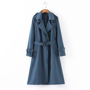 Women's Windbreaker New Arrive Autumn Winter Grace High Street Elements Casual Fashion Female Jacket Overcoat Size : S-XL