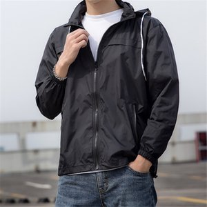 New men's summer jacket loose thin hooded jacket men's fashion sun protection men