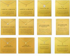 Muitos estilo Dogeared colares com cartão do ouro de prata colar de Key Clover Horseshoe Triângulo Colar Pingente encanto para mulheres Jóia