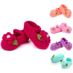 Baby Girls Shoes Handmade First Walkers Newborn Baby Infant Boys Girls Crochet Knit 0 to 18 Months Toddler Shoes