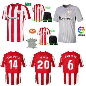 2020 camisas de futebol WILLIAMS MUNIAIN Aduriz 2021 Bilbao Soccer Jersey Athletic 20 21 I.MARTINEZ RAUL GARCIA Camiseta de futbol Homens crianças kit