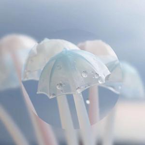 Paraguas de silicona luminoso creativo paraguas pluma suave pluma de gel como la Escuela de escritorio regalo