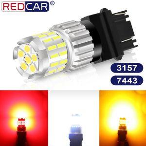 1Pcs T20 Led Bulb 7443 W21 5W Led Light T25 3157 P27 7W Car Turning Light Auto Tail Brake 3030 4014 Chips Super Bright