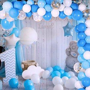 113pcs Baby Geburt Partei Ballons Girlande 1. Geburtstag Dekorationen Kinder Hochzeit Hintergrund Dekor Babyshower balon Bogen Y200903