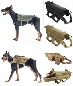 Durable Nylon Hundegeschirr Tactical Military Arbeitsweste Pet Trainingsweste Medium Large Hunde Außenexpansions taktische Weste