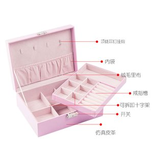 Portable Large-Capacity Storage Box Dresser Portable Princess Style Convenient New Chinese Square Exquisite Jewelry