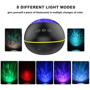 LED Ocean Wave USB Projector Light Bluetooth Lecteur de musique 7 Projection Modes océan eau Ripple lampe Veilleuse enfants