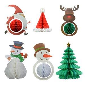 1PC لطيف عيد الميلاد العسل الكرة سانتا كلوز هات ثلج الأيل ورقة فانوس عيد الميلاد السنة الجديدة الرئيسية المعلقة اللوازم حزب ديكور