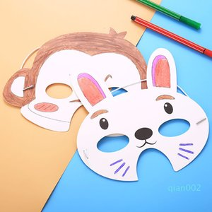 Papery Monkey Children Mask Diy Rabbit Halloween White Blank Coloured Drawing Doodling Facepiece Manual Draw Popular Masks 0 56hbd1