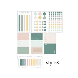 Memo Versorgung 1set Büro Memo-Aufkleber Schlagwörter Index Papiersagen Sticky Notes-Plan Teiler für Dot Pad Marker pdmKF mx_home