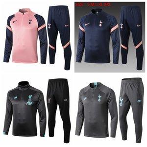 Liverpool Tottenham 20 21 Футбол Половина Zipper Обучение костюм Футбол Survetement Майо De Foot куртка Спортивные костюмы спортивный костюм брюки # 66518