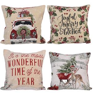 """18"""" Dekokissen Covers Weihnachten Dekorative Couch-Kissen-Kasten-Platz Kissenbezug für Sofa-Couch-Bett Auto JK2009XB"""