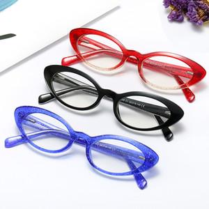 2020 neue Frauen blaues Licht Blocking Glas-Katze-Rahmen klassischer flacher Spiegel Lese Computer-Hyperopie Presbyopie Brille NX