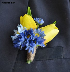 5pcs lot ! wholesale high simulation artificial PU tulips groomsmen corsages fake tulip Flower Wedding Brooch Boutonnieres