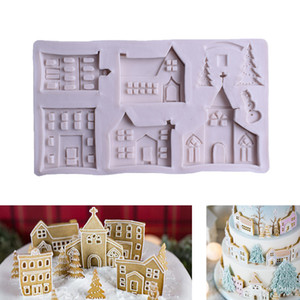 Christmas Gingerbread House Silicone Mold Fondant Mold Cake Decorating Tools Chocolate Gum paste Sugar craft Kitchen Gadgets