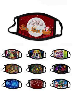 Máscaras Máscaras sob encomenda do Natal de Santa cães e gatos Moda Impresso respirável Máscaras PM2.5 poeira e Haze reciclável reutilizáveis