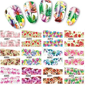 12 Designs Gradient Autumn Nail Art Stickers Fashion Full Cover Image Decals Nail Transfer Water Foils Beauty Manicure BN505-516