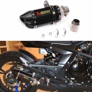 51mm Evrensel Egzoz Çelik Beyaz Motosiklet Egzoz Scooter Susturucu için CBR125 250 CB400 YZF FZ400 yIGZ #