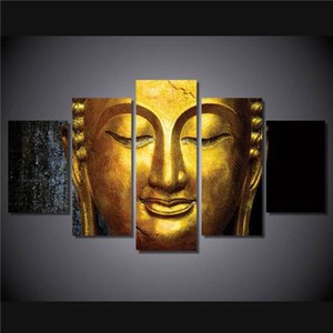 Hd Printed The Golden Buddha Painting Canvas Print Room Decor Print Poster Picture Canvas Free Shipping Ny-4950 NO Framed With