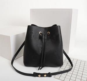 Orijinal Yüksek Qaulity Moda Çanta Cüzdanlar NEONOE Kepçe Çanta Bayan Klasik Stil Gerçek Deri Omuz Çantaları