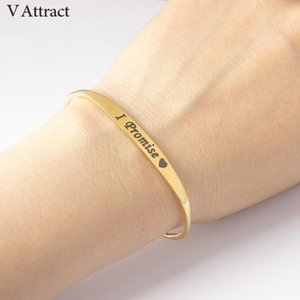 V Attract 10pcs I Will Always Love You Bracelets for Women 2020 Bijoux Femme BFF Jewelry Adjustable I Promise armbanden