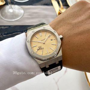 2020 высокого качества маточного Oak Offshore мужчины часы AP наручных часы каучукового ремешка резиновые мужских часы D1072