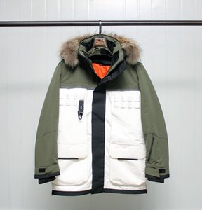 Yeni Erkekler Kış Down Ceket İki parçalı Astar Ayrılabilir Kontrast renkli su geçirmez Sıcaklık Kalın Parka Coat Moda Aşağı Ceket