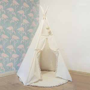 Teepee Tent for Kids Foldable Children Play Tents for Girls and Boys 100% Cotton Canvas Playhouse Toys Girl Child Indoor