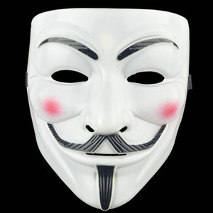Halloween Horror Grimace Masque plastique V -Vendetta Masques Rue Full Face Homme Danse Masque Costume Party cosplay rôle Atmosphere Props VT1594