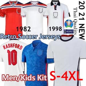 Rétro Coupe du monde 1982 Inglaterra 2020 FOOTBALL KANE Rashford chemise VARDY de football DELE LINGARD STERLING STURRIDGE chemisettes de Fútbol