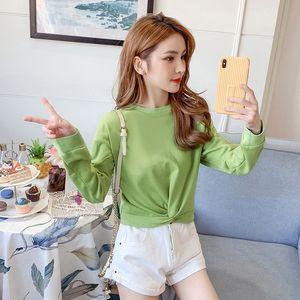Hot Sale 2020 Autumn New Korean style sweater jacket short jacket women's fashionable ins slimming all-match fashion kink long sleeve