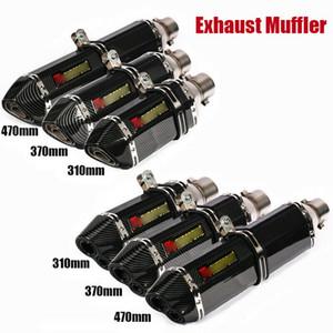 38-51mm Universal Modificar Motocicleta ATV sujeira Pit bicicleta Exhaust System Dicas de tubulação Silenciador Para FZ6 CBR250 CB600 MT07