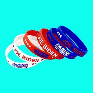 Байден Браслет силиконовый 2020 США Выборы Wristband Поддержка Поставки JOE BIDEN Браслет американский флаг браслет HHC1249