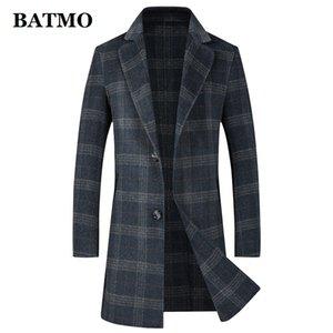 BATMO 2019 nova chegada de alta qualidade de 80% da manta de lã trincheira revestimentos revestimento menmens lã plus-tamanho-M 3XL LB