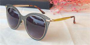 New fashion design sunglasses 5020 charming cat eye metal frame super beautiful hollow design fashion pop style uv400 lens top quality