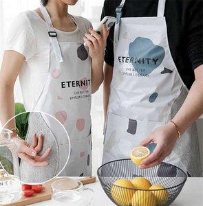 Hand-wipe Lady Donne Uomini grembiule impermeabile KitchenCooking grembiule per la casa Restaurant