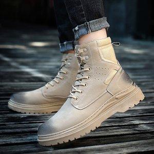 OLOME 2020 Rubber Men's Casual Boot Botas De Hombre Adult Non-slip Wear Resistant 2020 Men Fashion Work Boots Outdoor Walk Boot