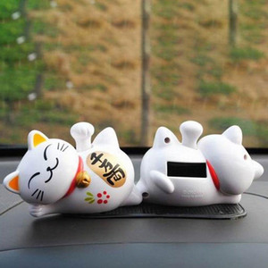 Lucky Cat Sleeping Lazy Cat Solar Car Decoration Car Interior Cute Display Decoration Accessories 9IBG#