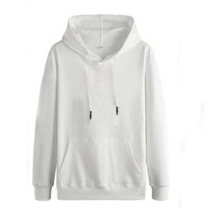 100% coton pour hommes Sweat-shirts Hoodies Femmes Casual Planète Imprimer solides en vrac avec cordon de serrage Sweat-shirt manches longues à capuche 2020 Automne