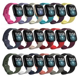 TPE-Bügel für Fitbit Versa 3 Silikonband Fitbit Sense Smart Watch Klassische Armband Armband Ersatzzubehör