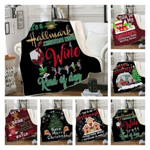 new Adult 3D Christmas Blankets Double heavy blanket Winter Blankets Swaddling Bedding Xmas Home Textiles 150*200cm T2I51478