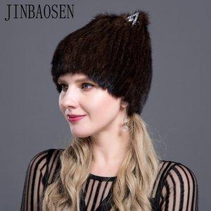 JINBAOSEN chapeau de vison casquette chapeau ski russe 7