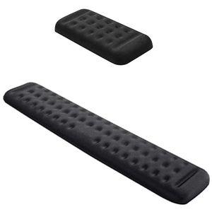2adet Klavye Ofis Black için Bilek istirahat Pad yastıklı Hafıza Köpük El istirahat Destek - 5.12 İnç 14.2 İnç