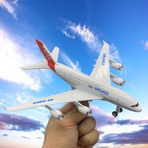 MLQ Diecast Alloy Boeing 747 пассажирский самолет Самолет Модель Игрушка, Звук Свет, Pull-обратно, украшения Xmas Kid Birthday Boy подарков, 757-6,2-1
