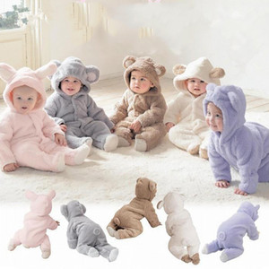 2020 New Children's Jumpsuit Romper Cute Baby Jumpsuit Plush Romper Jumpsuit Hooded Newborn Baby Clothes Clothes