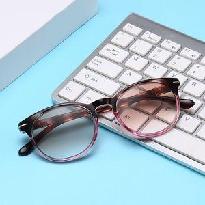 Fashion Round Women Men Presbyopic Glasses Gradient Lenses Female Reading Glasses Progressive Color Magnifier
